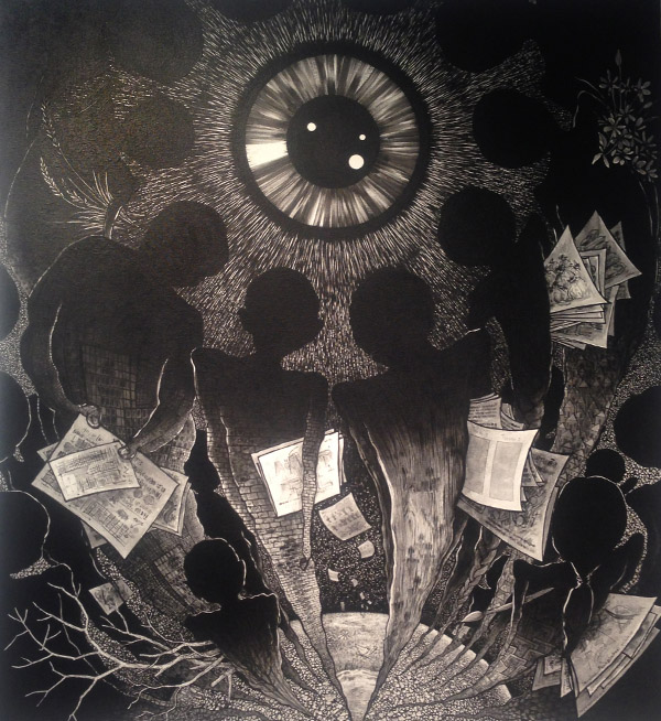 """""""work with spiritual soul"""" von Somboon Phoungdorkmai, 2015, in einer Galerie im bacc"""