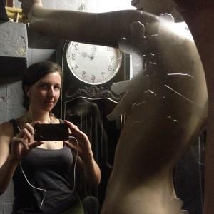 Selfie mit Schaufensterpuppe