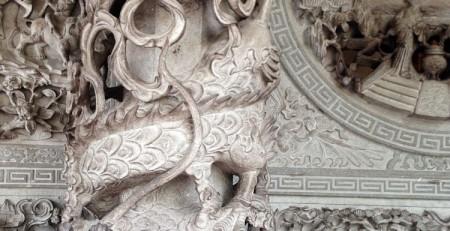 Detail eines chinesischen Tempels