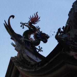 Drache auf chinesischem Tempel