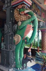 Detail eines indischen Tempels