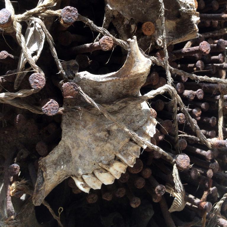 Detail einer Nkisi aus dem Kongo