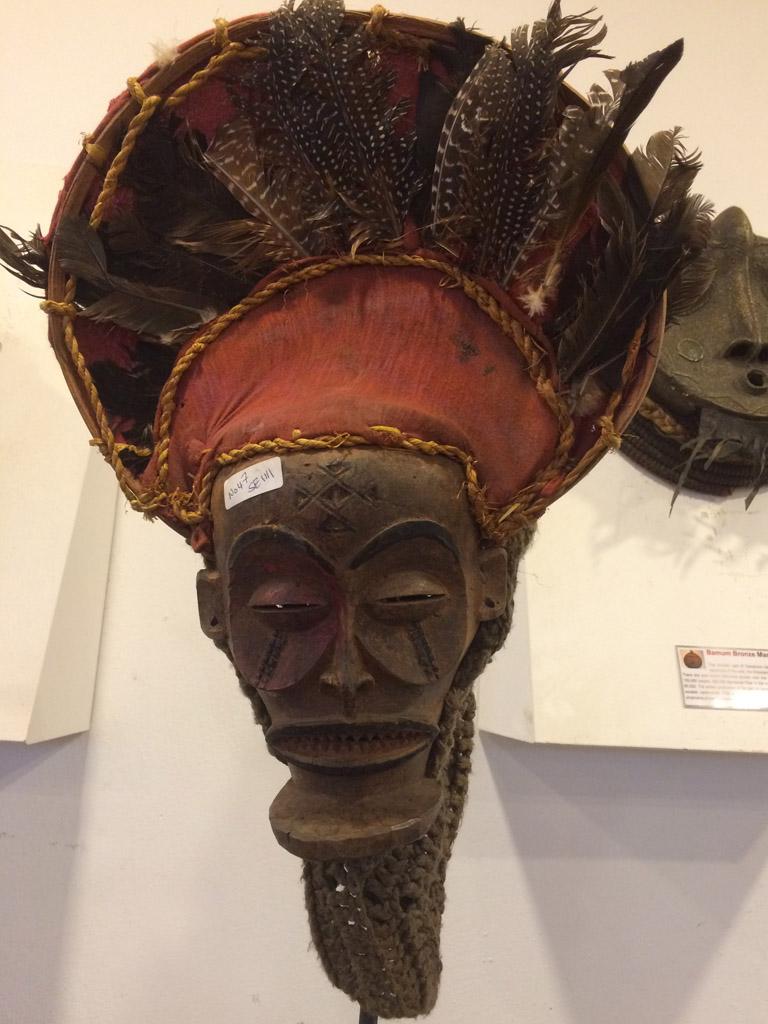 Masken für kultische Veranstaltungen waren vor allem in Zentral- und Westafrika verbreitet.
